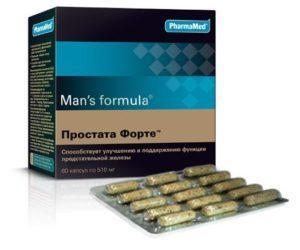 Man's Formula Простата Форте: инструкция по применению и отзывы
