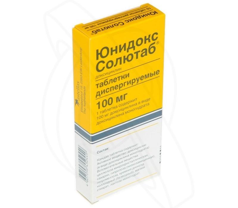 Лечение простатита препаратом Юнидокс Солютаб: как принимать